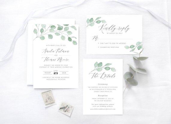 Hochzeit Einladung Eukalyptus