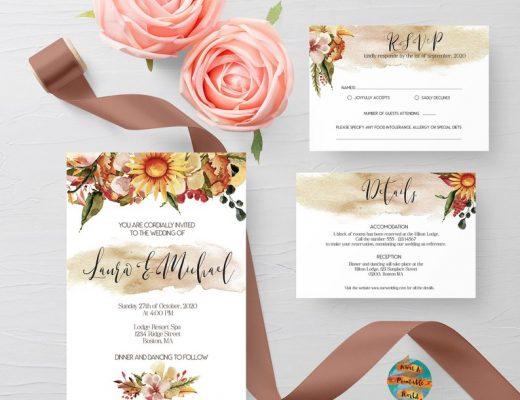 Herbst Hochzeitseinladung